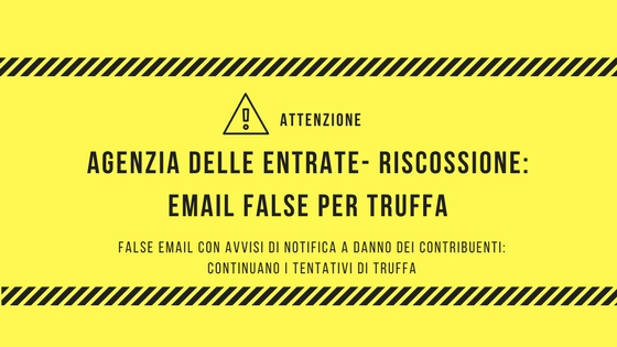 Alert di sicurezza:  email false per truffa