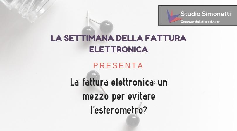 La fattura elettronica: un mezzo per evitare l'esterometro?