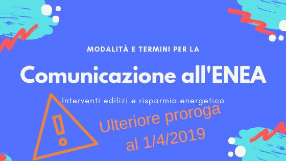 La comunicazione all'Enea: modalità di invio e scadenze