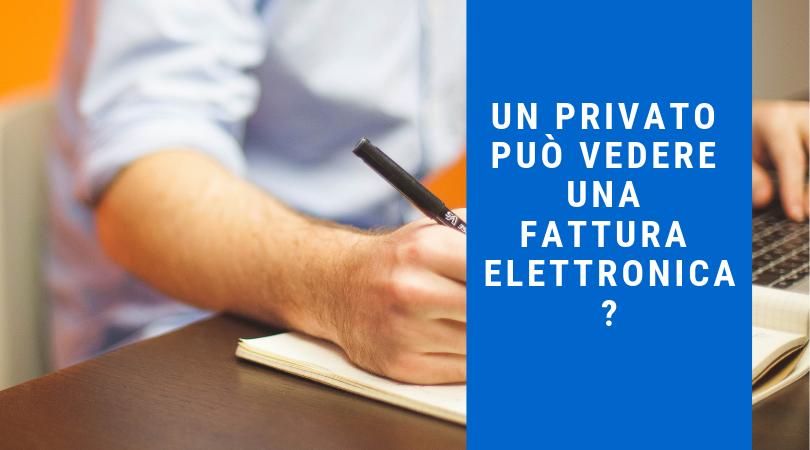 Una persona fisica può vedere una fattura elettronica?