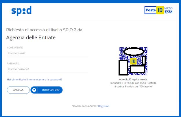 Inquadra il qrcode per accedere con SPID
