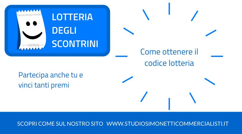 Come ottenere il codice lotteria e partecipare alla lotteria degli scontrini