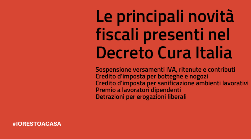 Le novità fiscali del decreto Cura Italia