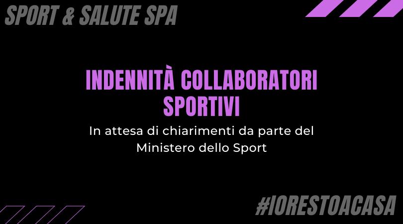 Indennità collaboratori sportivi: in attesa di chiarimenti da parte del Ministero