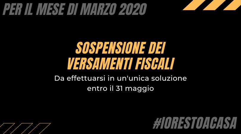 Versamenti fiscali di marzo sospesi grazie al Decreto-legge Cura Italia