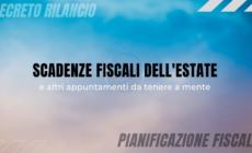 Scadenze fiscali estate 2020