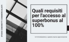 Quali requisiti per l'accesso al superbonus al 110%